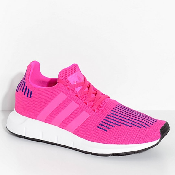 buy release info on fantastic savings adidas Swift Run Shock Pink & White Shoes NWT